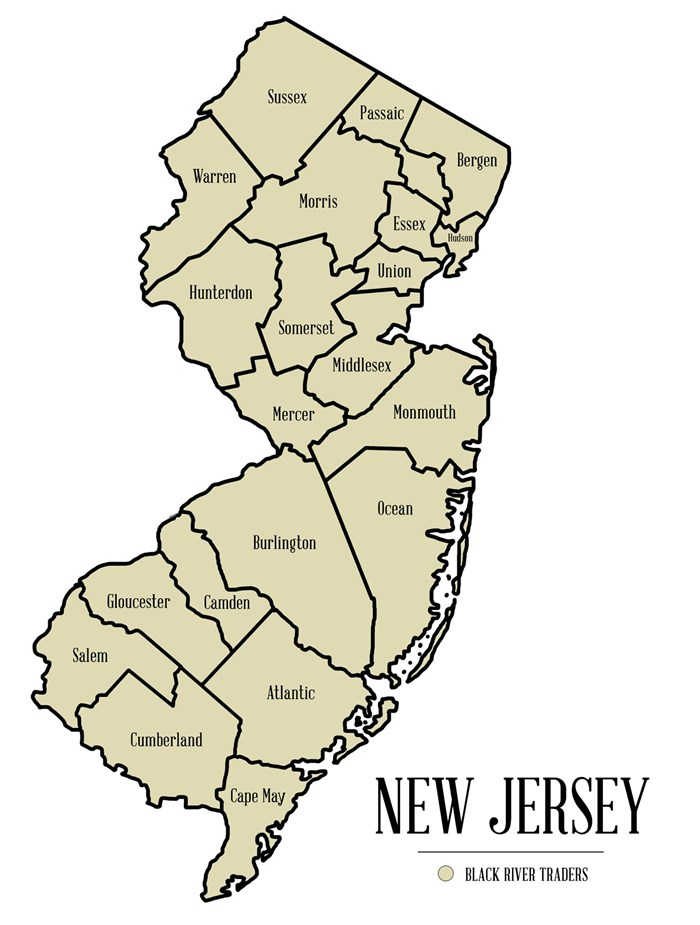 New Jersey Wholesaler Map