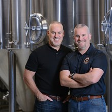 Paul & Eric John Owners Rusty Rail Brewing Company Mifflinburg PA