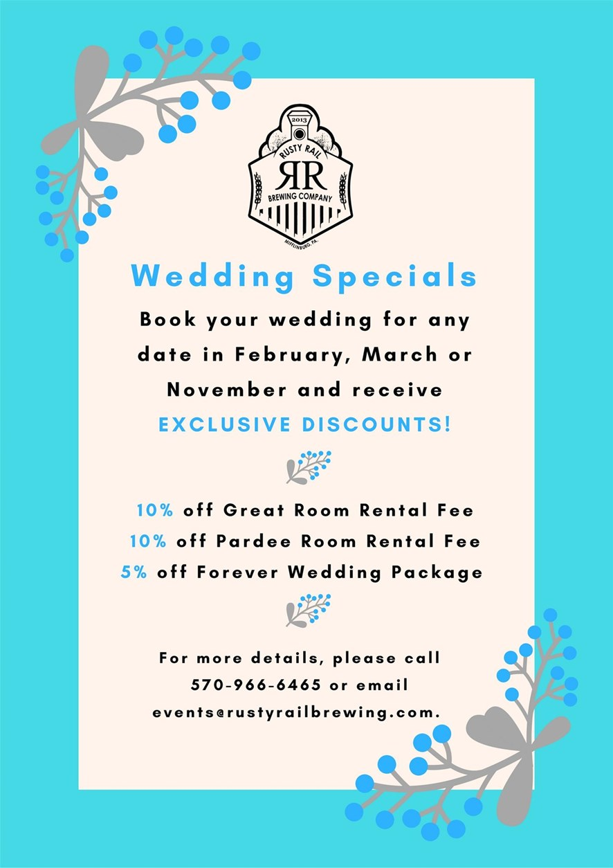 Wedding Specials_Rusty Rail Brewing Company
