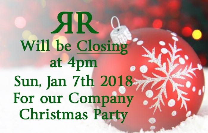 closing at 4pm rusty rail company christmas party rusty rail